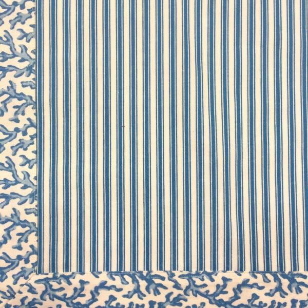 Jogo Americano Normandie Coral Azul Claro
