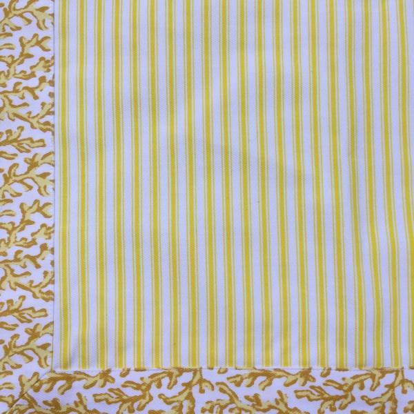 Jogo Americano Normandie Coral Amarelo