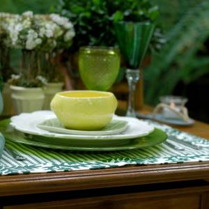 Jogo Americano Normandie Vintage Verde