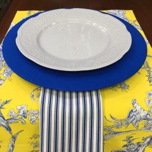 Guardanapo Tricoline Listra Azul Royal