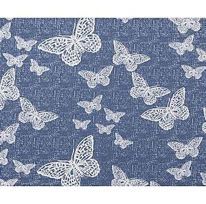 Toalha De Mesa Redonda Borboleta Azul 1,50