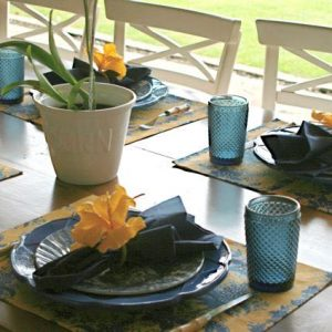 Jogo Americano Normandie Bouquet Amarelo