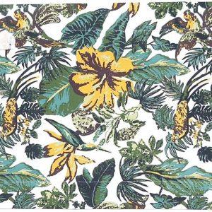 Jogo Americano Normandie Tropical Amarelo