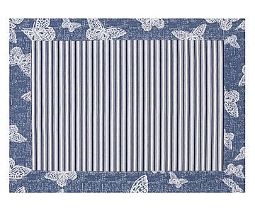 Jogo Americano Normandie Borboleta Azul