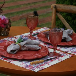 Jogo Americano Normandie Bouquet Rosa