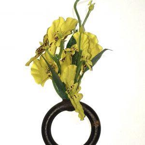 Porta Guardanapo Orquidea Chuva De Ouro Amarela