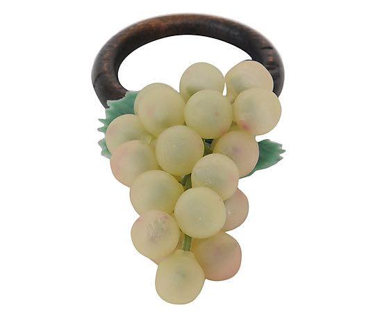 Porta Guardanapo Fruta Artificial Uva Verde