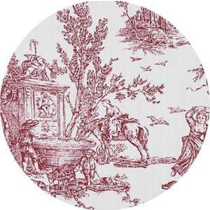Capa Para Sousplat Toile Vinho
