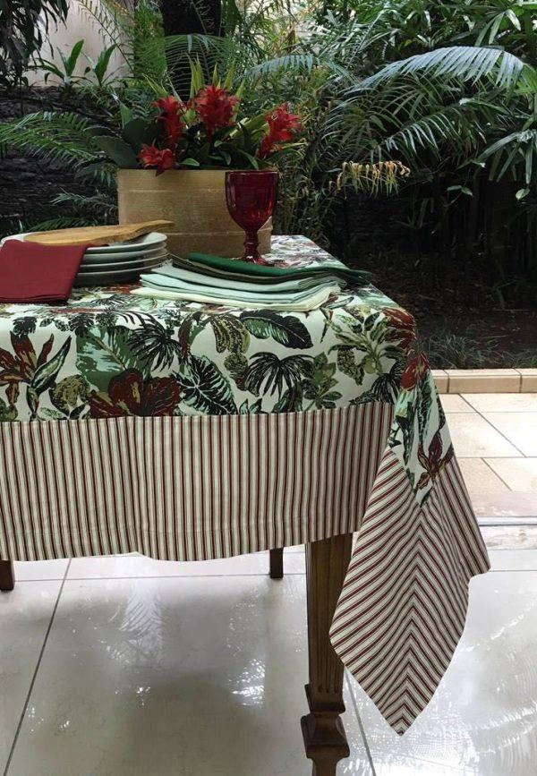 Toalha De Mesa Retangular Tropical Vinho 2,0