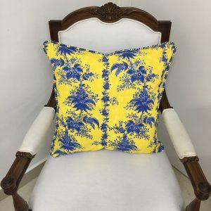 Capa de Almofada Quadrada Vivo Bouquet Amarelo