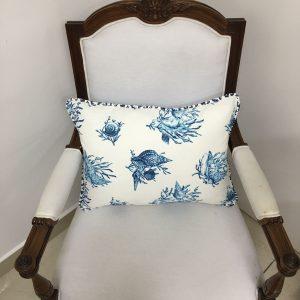 Capa de Almofada Retangular Vivo Coquile Azul