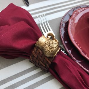 Porta Guardanapo Bule Dourado