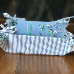 Pannier Oriental Azul e Verde Pequeno