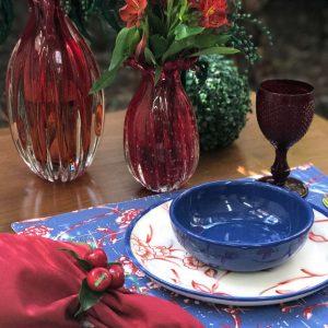 Jogo Americano Normandie Oriental Azul