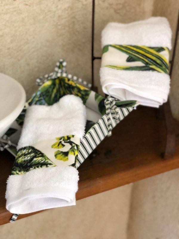 Kit Toalha Lavabo Leaves