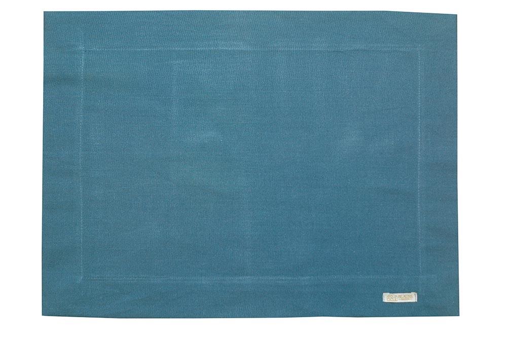 Jogo Americano Normandie Linho Azul Jeans
